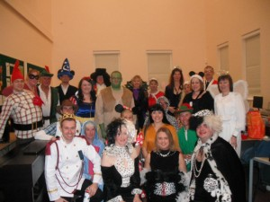 Dressed as Disney characters for one of our many Xmas Concerts